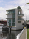 Miami River 5th Street Bridge: Finished control tower.