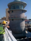 Miami River 5th Street Bridge: Control tower ready for silicate coating.